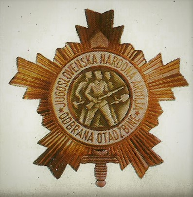 029 Order of the Yugoslav army with a gold star