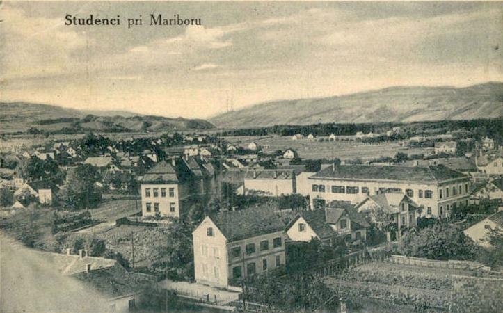 Maribor (razglednica): Studenci - panorama